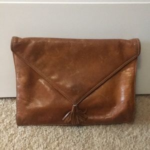 Vintage genuine leather clutch